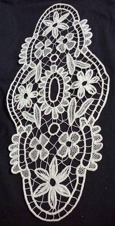 Vintage Romanian Handmade Oval Macramé Crochet by ScrantonAttic, $79.99