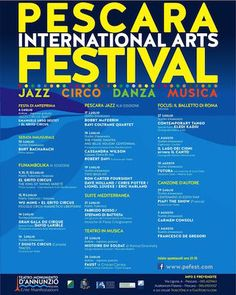 Pescara International Arts Festival 2015: il programma completo