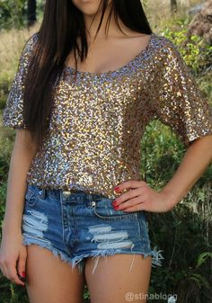 Bling Sequined Tee