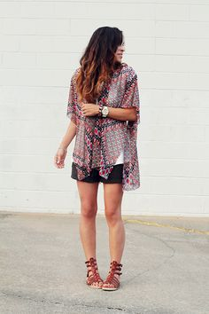 Create a chic kimono in 3 easy steps! #DIY