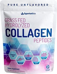 Hydrolyzed Collagen Powder - Amazing Hair, Skin & Nails - Support Healthy Joints With Premium Unflavored Grass Fed Protein Peptides - Non GMO, Gluten Free & Paleo Friendly - Easy To Mix - 6oz - NATURAL PASTURE RAISED, GRASS FED SOURCE FROM ARGENTINA Only 1 ingredient, Opportuniteas collagen peptides contain ~80% type 1 & and ~20% type 3 collagen. It comes from pasture raised, grass fed, bovine tissue raised in Argentina to ensure a high quality source. It's made using enzymatic hydrolys...