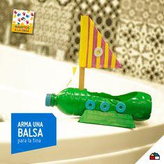 ¡Arma una balsa para la tina con una botella! #Sodimac #Homecenter #Peru #juego #juguete #imaginación #balsa #ManosAlaObra #ManitosAlaObra