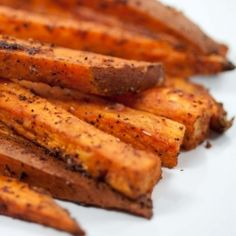These baked spicy sweet potato fries will warm you right up!  I am going to make these with dinner tonight!