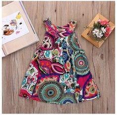 Vestido Infantil Floral Moderno Frete Grátis!!