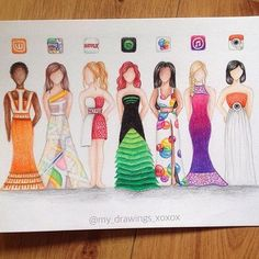 New App Dresses! Comment which one you #LOVE the most! By @my_drawings_xoxox…