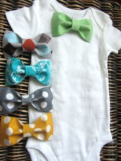 Baby Boy Clothes Mustache Bodysuit Blue Tie by SewLovedBaby