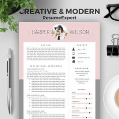 How To Make Resumes Page Professional Resume Template  A And Us Letter  Cv  Sales Assistant Resume with Resume For Laborer Excel Creative Resume Template For Word Cover Letter Cv By Resumeexpert Hard Skills For Resume Excel