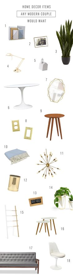 Home Decor Items Any Modern Couple Would Want by Ashley Rose of Sugar & Cloth, an award winning DIY and lifestyle blog.