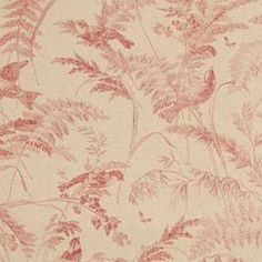 """BIRD TOILE  SPICED CORAL  END USE:Drapery, Bedding, Pillows, Light Use Furniture  WIDTH:54""""  REPEAT:Vertical - 25.25""""  FIBER CONTENT: 88% Cotton, 12% Rayon $22.99"""