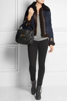 Marc by Marc Jacobs Classic Q Lil Ukita textured-leather shoulder bag  NET-A-PORTER.COM £375