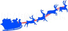 How To Draw Santas Sleigh, Step by Step, Drawing Guide, by Dawn | dragoart.com Favorite Christmas Songs, Favorite Holiday, Christmas Time, Christmas Crafts, Santa Sleigh Silhouette, How To Draw Santa, Drawing Guide, Santa And Reindeer, Window Ideas