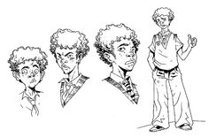 Character design/sample art for graphic novel adaptation / client - Hyperion Books
