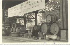 2 Faesser, Kahlenberg und Bacchus, aus dem Besitz der Familie Wagner, hergestellt in der Fassbinderei Mandahus, bei der Landwirtschaftsausstellung 1938