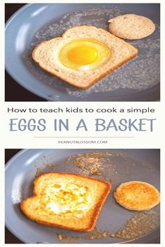 #How #to #cook #eggs #perfect #confidence This is the perfect first recipe for kids who want to learn how to cook Help them gain some cooking skills and confidence by teaching them them how to make eggs in a basket with simple step by step instructions they will easily be able to follow Such a great way to learn important life skillsbrp classfirstletterHelloWelcome to our web pageScroll down for further cookingwithkids practical TopicpIf you dont like everything perfect part of the photo we… Kids Cooking Recipes, Cooking For One, Meals For One, Kids Meals, Healthy Recipes, Cooking Games, Cooking Ribs, Cooking Salmon, Easy Cooking