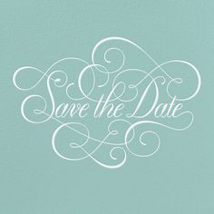 Save the Date Type by Jessica Hische for Paperless Post.  Available on paper and online. Customize your wedding save the date to match your personal style on paperlesspost.com.