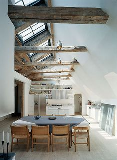 Exposed beams + skylights = to die for.