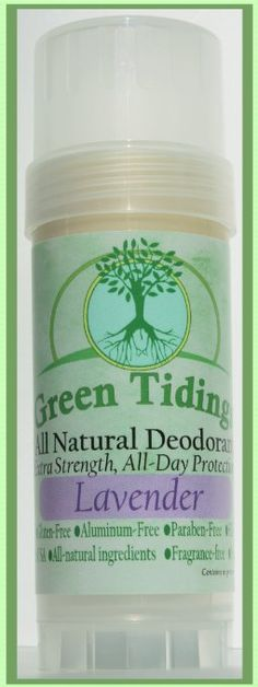 Green Tidings Natural Deodorant - Lavender -*Extra Strength, All Day Protection* - Vegan - Cruelty-Free - Aluminum Free - Paraben Free - Non-Toxic - Organic - Gluten-Free - Made in USA Diy Natural Deodorant, Deodorant For Women, Organic Body Wash, Organic Skin Care, Underarm Deodorant, Anti Aging, Thing 1, I Love Makeup, Sprays