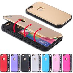 Cell Phone Case Covers 2 In 1 Back Tpu+Hard Plastic Hybrid Stand Flip Case For Apple Iphone 6/6plus/6s/6s Plus With Card Slot Cover Kickstand Cell Phone Cases Cheap From Mayiandjay, $2.02