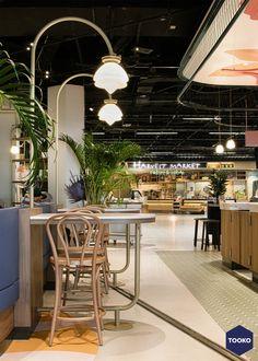 HEKKER  Interieurbouw - Interieurbouw Café Flor op Schiphol Airport - TOOKO – Inspiratie voor een exclusieve werkomgeving Table Decorations, Furniture, Home Decor, Homemade Home Decor, Home Furnishings, Decoration Home, Arredamento, Dinner Table Decorations, Interior Decorating