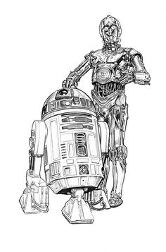 Star Wars - R2D2 and C3P0 by Jason Palmer