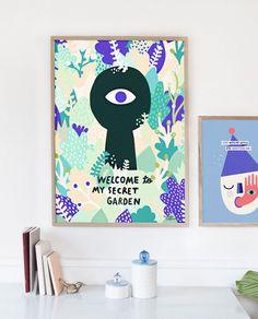Poster Secret Garden von Michelle Carlslund Illustration
