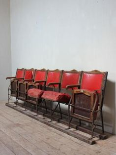 one of a pair of early 20thc fold down theatre seats perfect for that boutique - Movie Theater Chairs