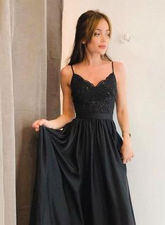 Black v neck lace long prom dress, black evening dress, Customized service and R. - Black v neck lace long prom dress, black evening dress, Customized service and Rush order are available Source by - Black Evening Dresses, Black Prom Dresses, Pretty Dresses, Evening Gowns, Dress Black, Pink Dress, Split Prom Dresses, Homecoming Dresses, Straps Prom Dresses