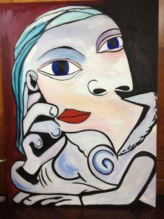 A recreation of Picasso Dora Maar.