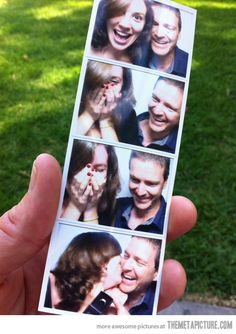 Don't usually put wedding related things here but this is SO cute! He proposed in a photo booth so he got her whole reaction!