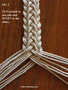 tutorial for making a french sennit braid - Paracord belt or my next mandolin st. - tutorial for making a french sennit braid – Paracord belt or my next mandolin strap - Braids with weave Ceinture Paracord, Crafts To Do, Arts And Crafts, Rope Crafts, Paracord Belt, How To Braid Paracord, Micro Macramé, Macrame Knots, Macrame Bracelet Tutorial