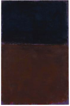 Mark Rothko, Untitled, (Black, Red-Brown on Violet), 1969, acrylic on paper mounted on panel, 39 x 25 ½ in. 99 x 64.7 cm.