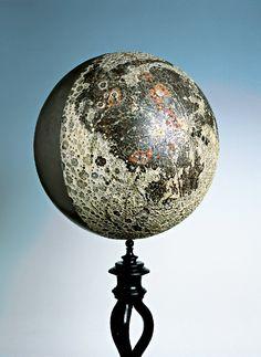 Ernst Fischer, Moon globe 1875 / Mathematisch-Physikalischer Salon, Dresden State Art Collections