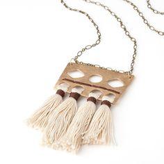 Vanessa Tassel Necklace // Boho Chic Tassel Necklace for Weekend Casual Wear