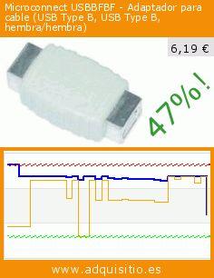 Microconnect USBBFBF - Adaptador para cable (USB Type B, USB Type B, hembra/hembra) (Electrónica). Baja 47%! Precio actual 6,19 €, el precio anterior fue de 11,63 €. https://www.adquisitio.es/microconnect/usbbfbf-adaptador-cable