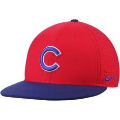 4bde55e3bc2 Men s Chicago Cubs Nike Red Royal Aero True Adjustable Hat