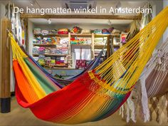 Een Rainbow hangmat is sterk en komt in prachtige kleuren. Deze hangmatten zijn leverbaar in 5 maten. Van baby hangmat tot Gigantische familie hangmat