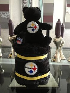 Items similar to Steeler Towel Cake on Etsy 49fd996f3
