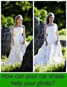 Using reflectors can add warm or cool light to your photo.  Read how to use one, and see examples of why it helps.