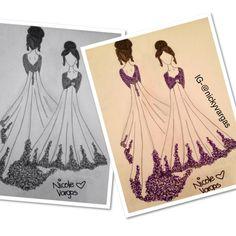 Purple encaje dress