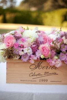 This would be a nice idea if your wedding was a wind theme, or you were having the wedding at a winery.
