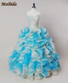 3f0eda1c688 2017 Hot Pink Blue Quinceanera Dresses Ball Gown With Beads Cheap Quinceanera  Gowns Sweet 16 Dress