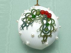 Tatted Christmas ornament