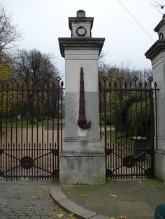 Inverted torch,  Nunhead Cemetery, London -  Inverting a torch would extinguish a flame, a reference to physical death. That the flame still burns, and in a physically impossible direction, represents the belief that the spirit lives on.