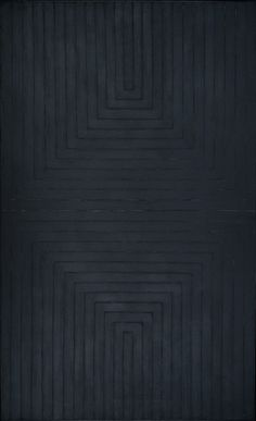 peinture abstraite : The Black Paintings, 1959, Frank Stella, US
