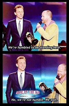 Tom Hiddleston and Joss Whedon