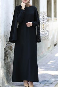 Cape Dress in Black