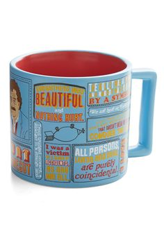 Beverage of Champions Mug. Before you embark on drafting your next novel, soak up inspiration with each sip from this sky-blue mug. #blue #modcloth