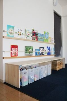 Playroom Wall Decor, Playroom Storage, Kids Storage, Baby Room Decor, Living Room Redo, Kids Study, Home Desk, Kid Spaces, Cool Rooms