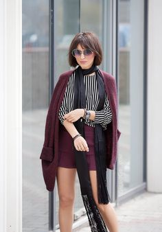 striped+top+outfit-skinny-silk-scarf_asos+shorts