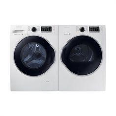 Samsung WW22K6800AW/A2-DV22K6800EW/AC Washer and Dryer Set